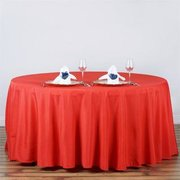 Tablecloth red round 120 inch