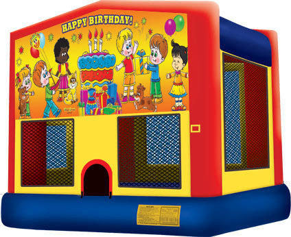 Happy Birthday Bounce House (Large)