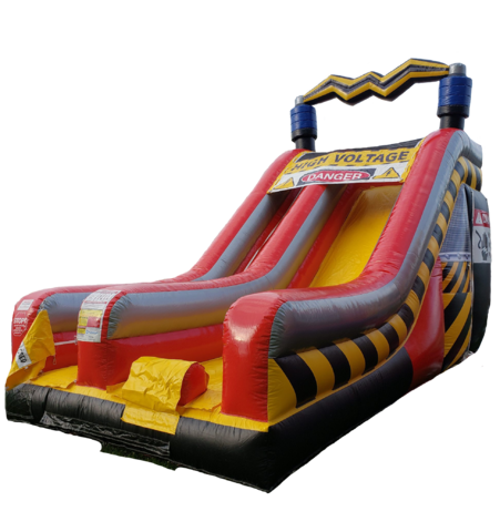 High Voltage 18' Inflatable Dry Slide