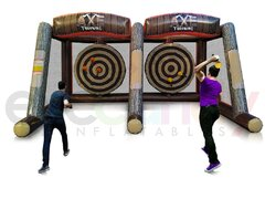 Inflatable Axe Throwing - Double Lane