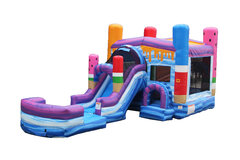 Ice Pops Wet Bounce House with Slide
