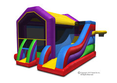 Wacky Bounce House Slide Combo