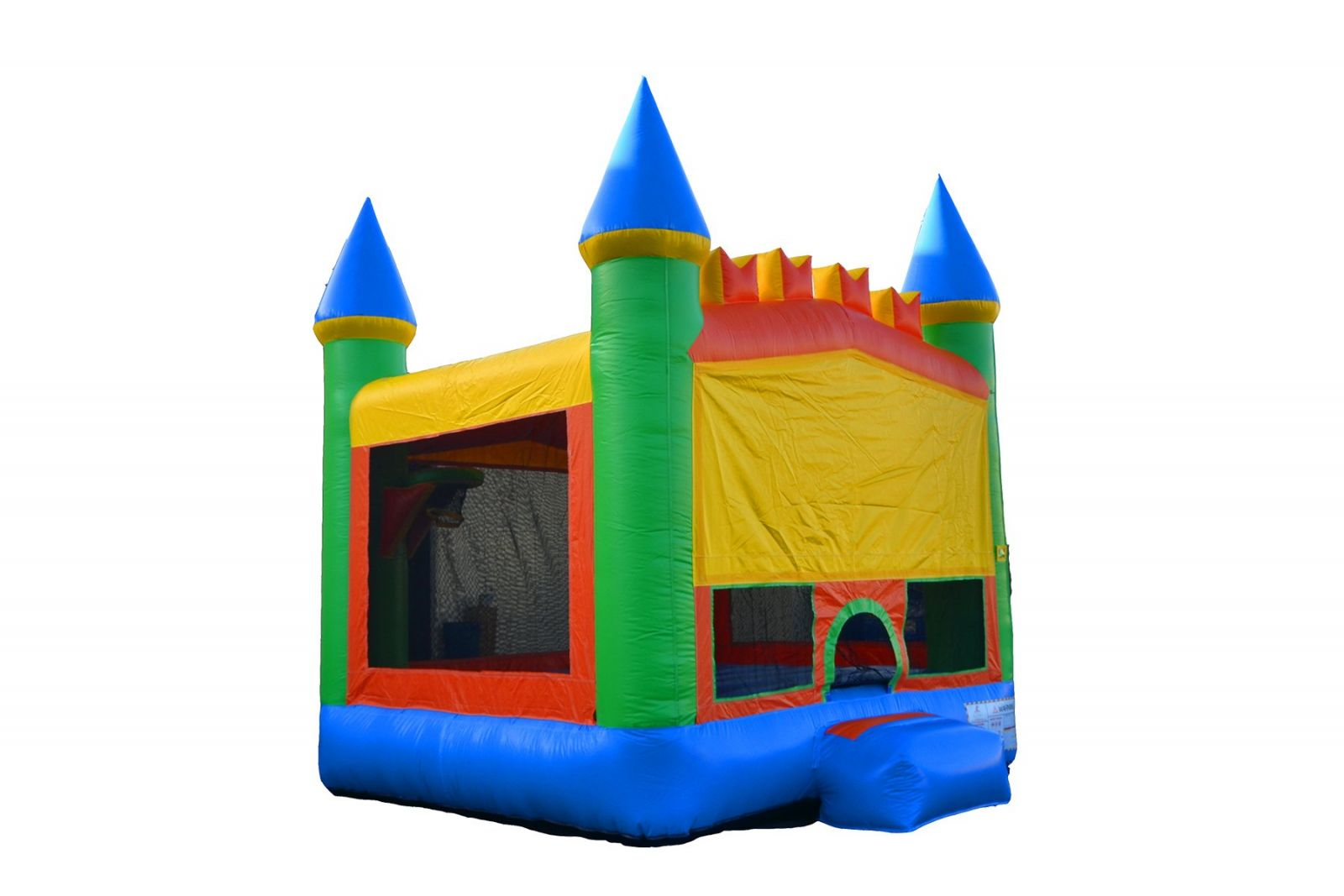 Bounce castle against white background