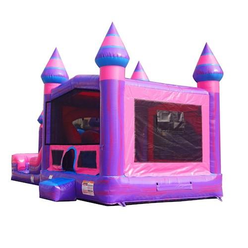 Pink princess bounce house rental kansas city