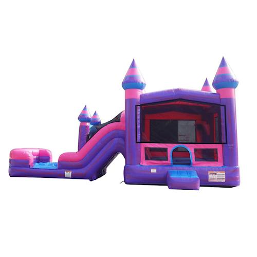 pink castle bounce house