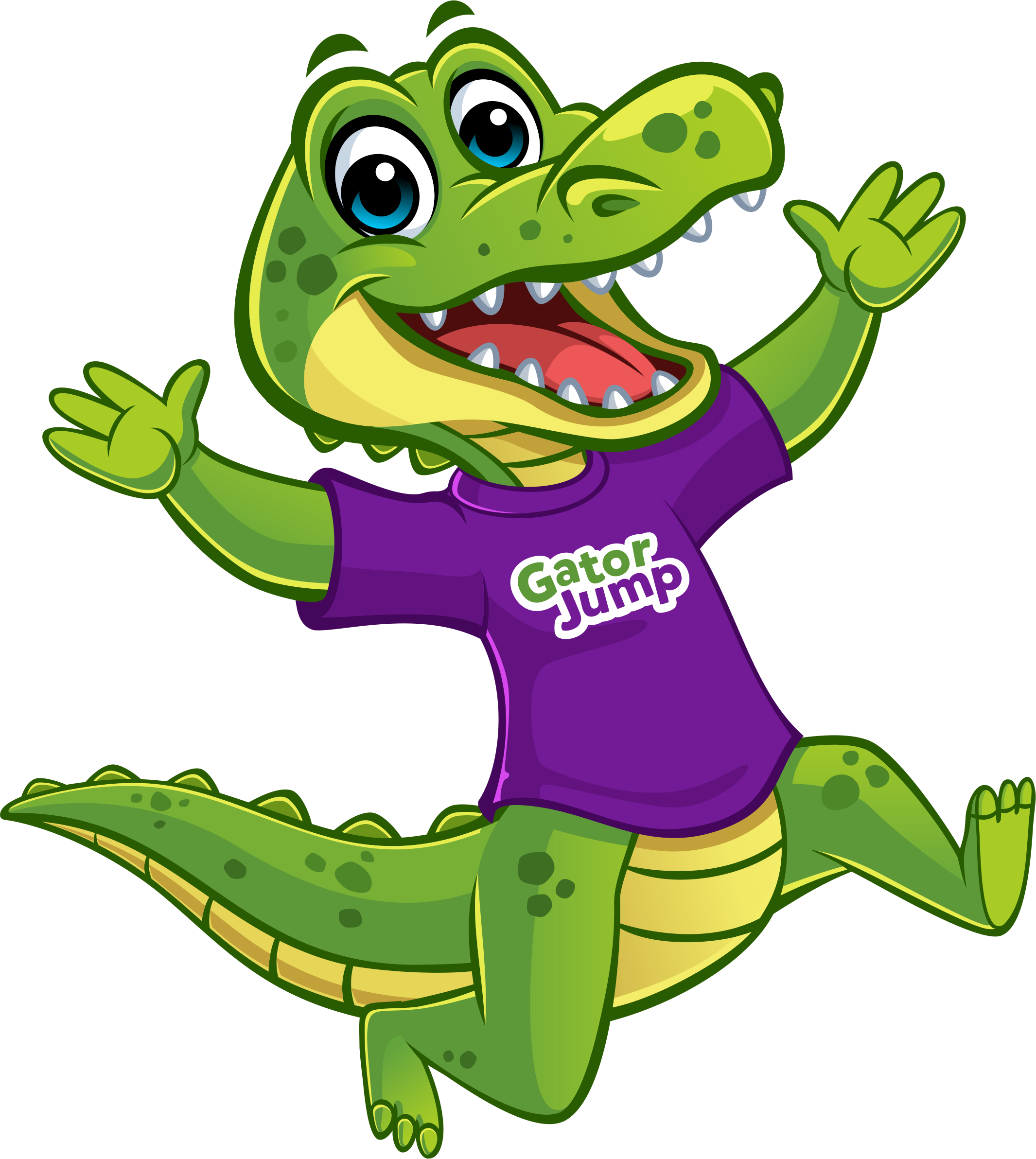 jumping gator bounce company mascot
