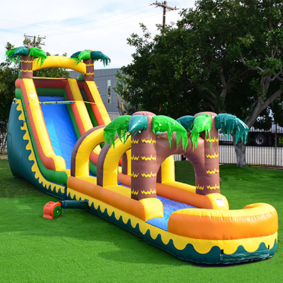 Tropical Palm tree inflatable slide