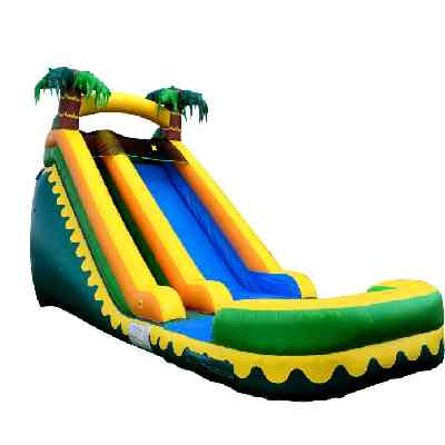 tropical water slide inflatable