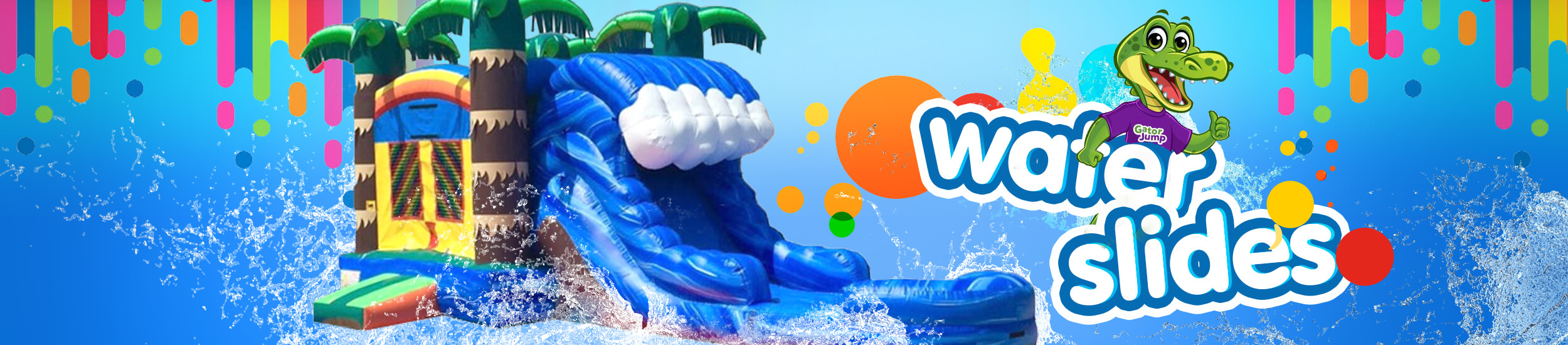 Water Slide rental banner