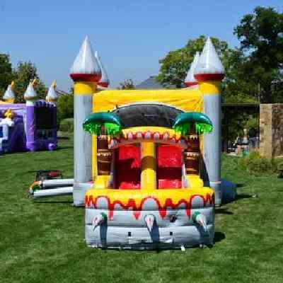 dinosaur theme bounce house combo