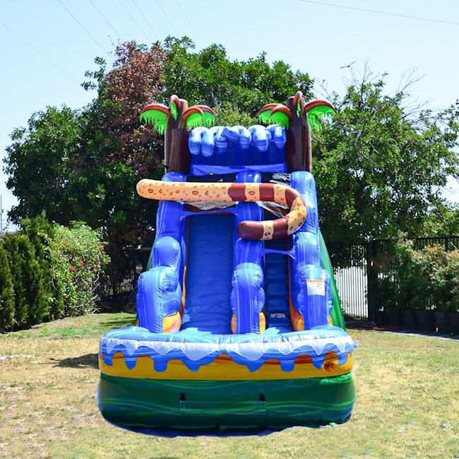 wild animal themed water slide rental