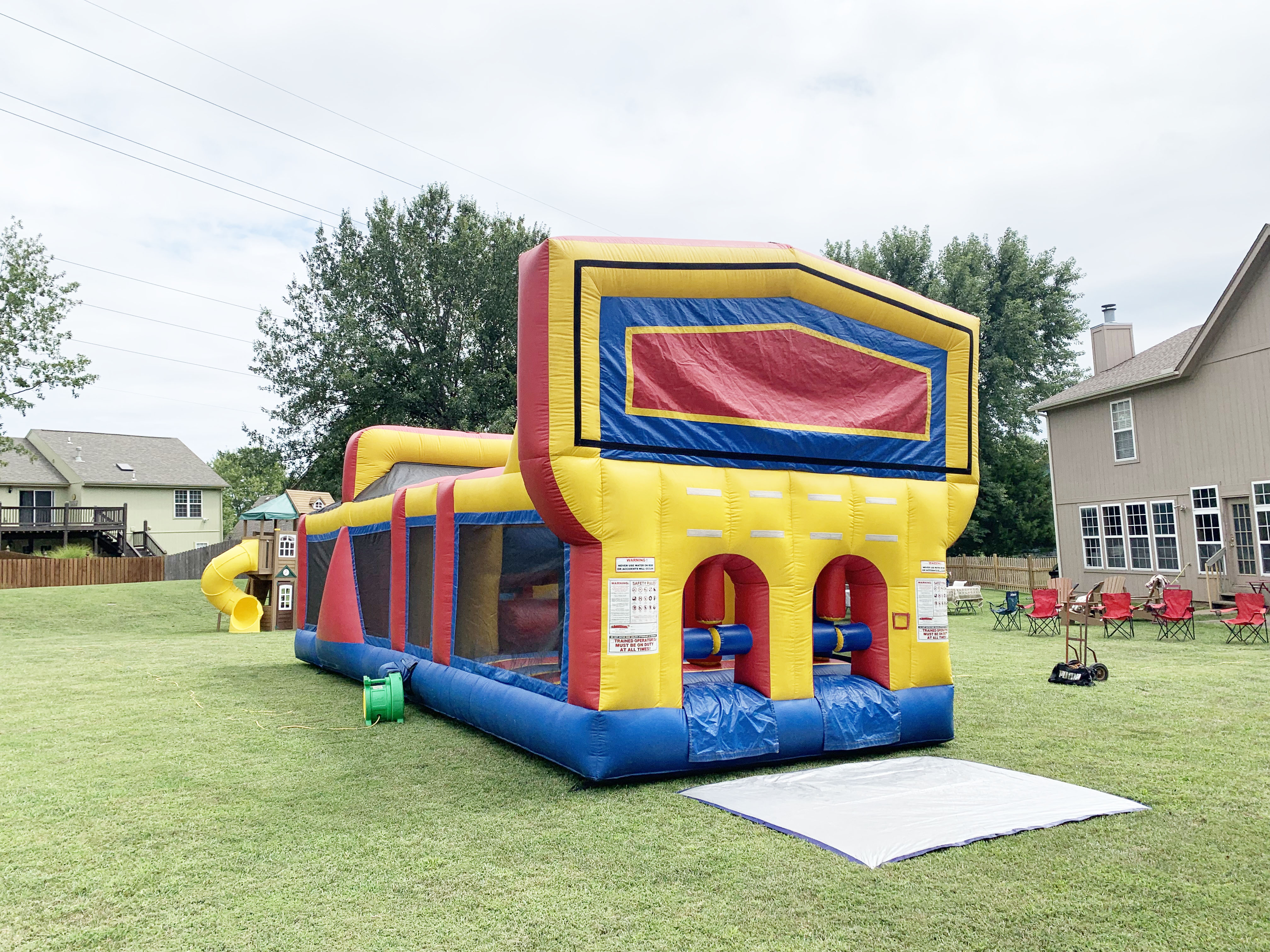 Backyard Obstacle course rental