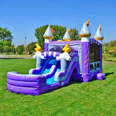 thunderbolt inflatable water slide