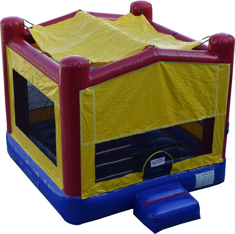 Yellow Red Blue Bounce House