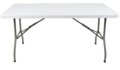 6 Foot White Folding Table