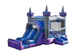 Purple Crush Bounce House with Double Slide