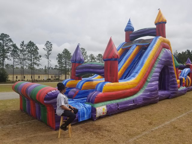 22ft Crazy Color Slide Wet