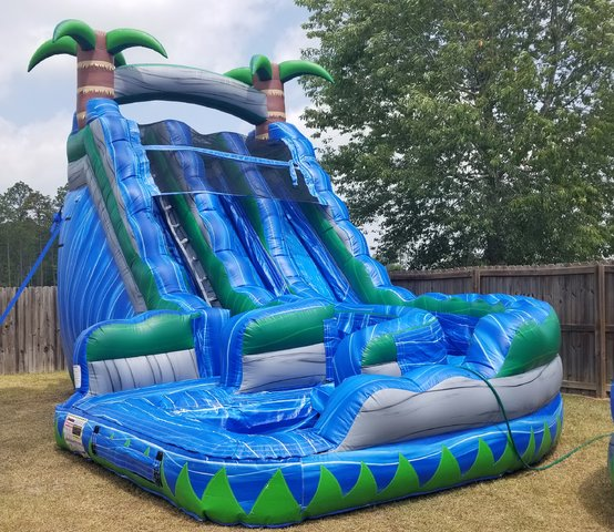 20ft Tropical Curve Water Slide