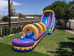 18ft New Purple Slide w/ Slip n Slide
