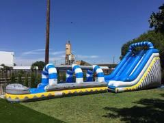 18ft Blue and White Water Slide w/ Slip n Slide