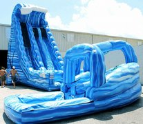 27ft Blue Crush Slide w/ Curved Slip and Slide