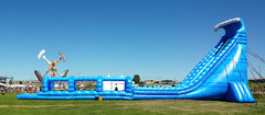 27ft Blue Crush Slide w/ straight Slip and Slide