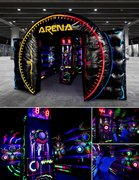 Interactive Chase the Light Arena w/ Black Light Option
