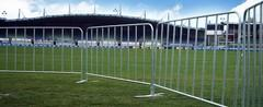 Crowd control aluminum fencing