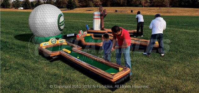 3 Hole Inflatable Putt Putt Golf Course