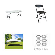 Tent, Tables & Chairs Package