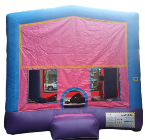 Pink and Blue Bouncy House