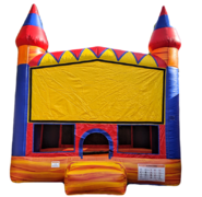 Lava Castle JumpBasketball Hoop Inside
