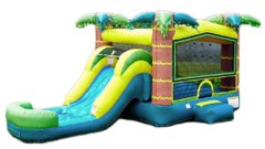 Tropical Adventure Combo Includes: Slide & Interior Basketball Hoop