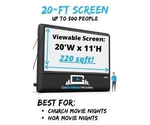 corsicana movie screen rentals