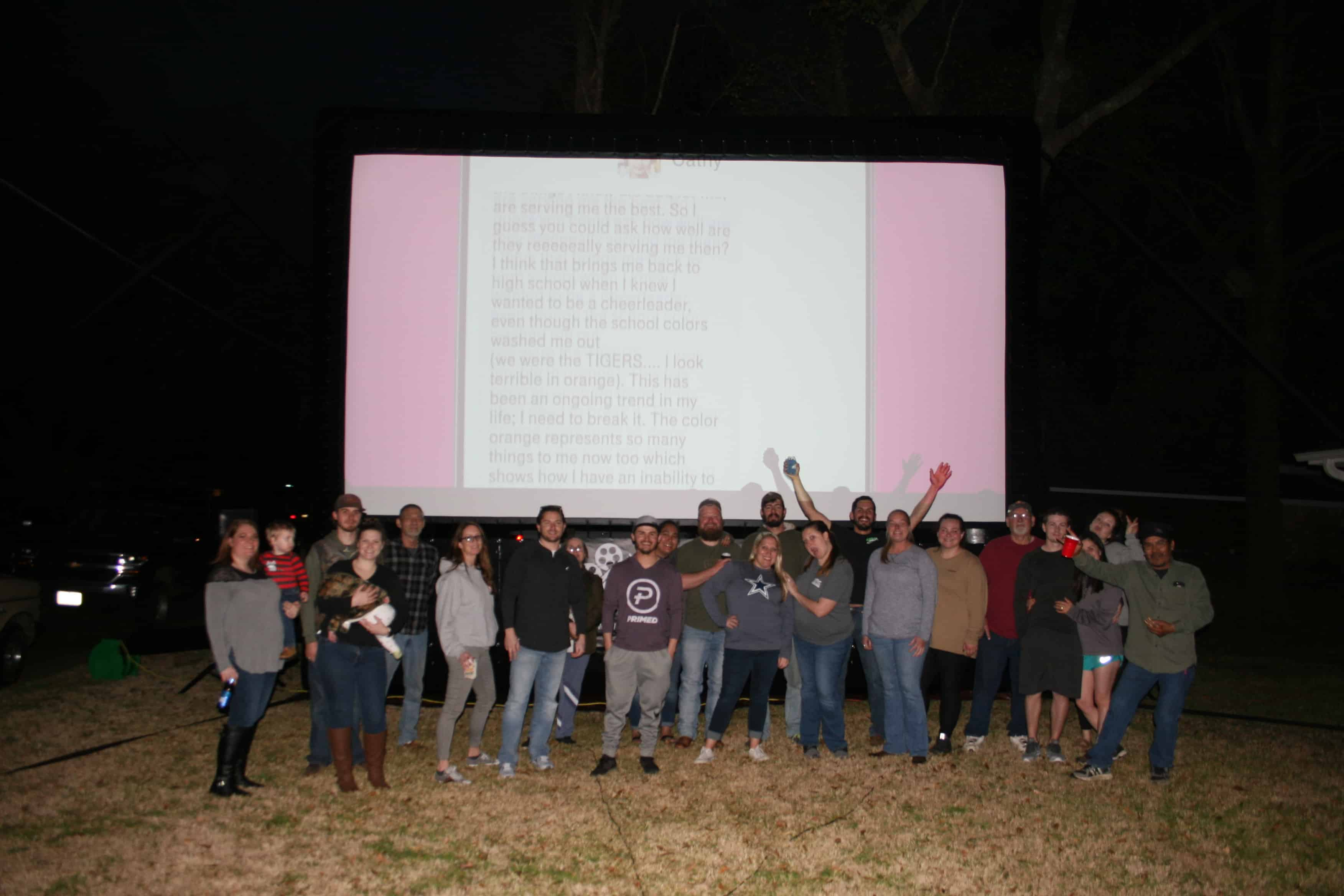 movie night screen rental texas