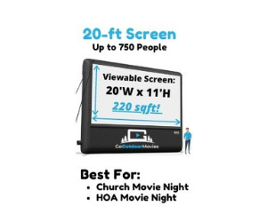 20 foot tall inflatable movie screen rental