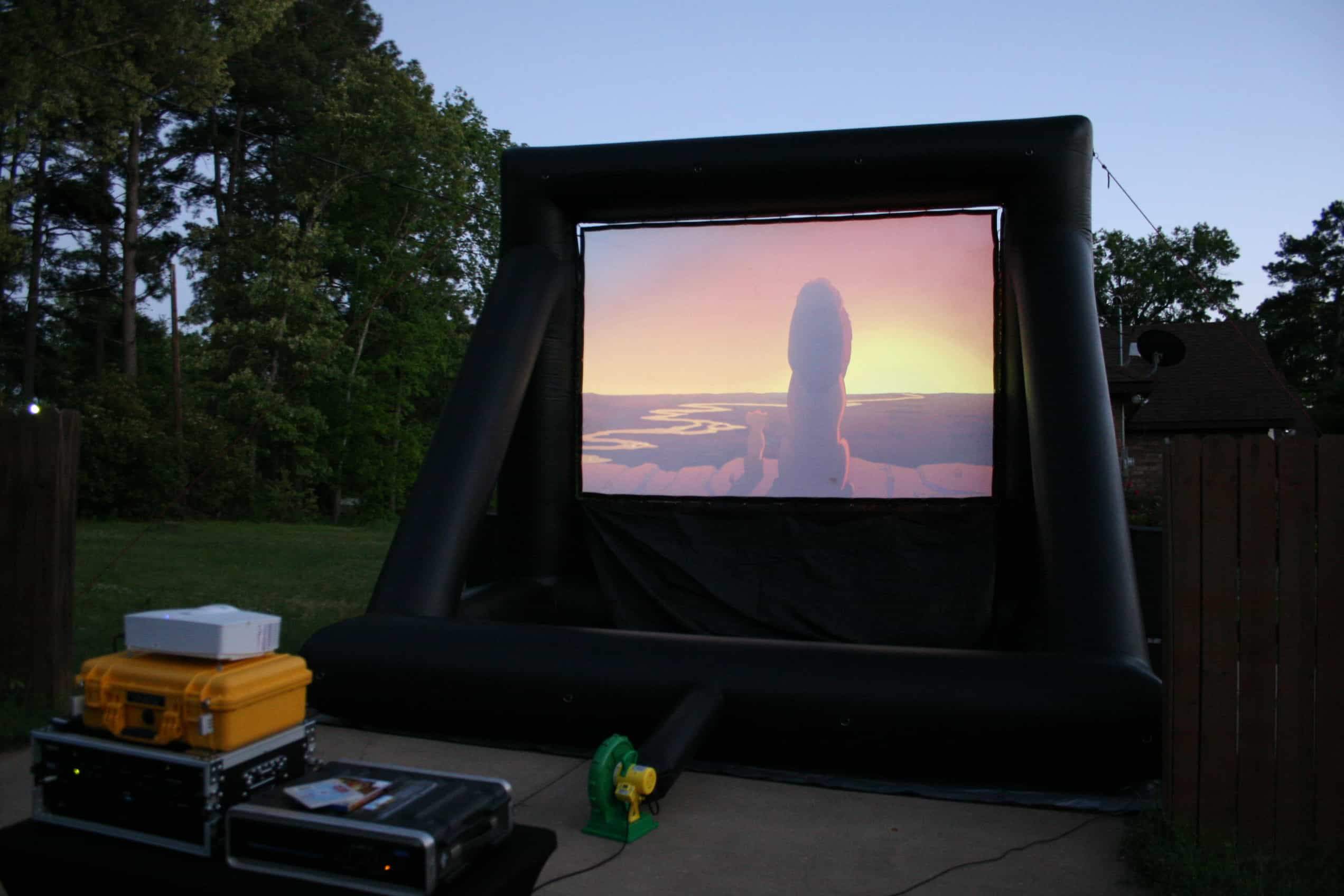 Backyard Movie Night Texas
