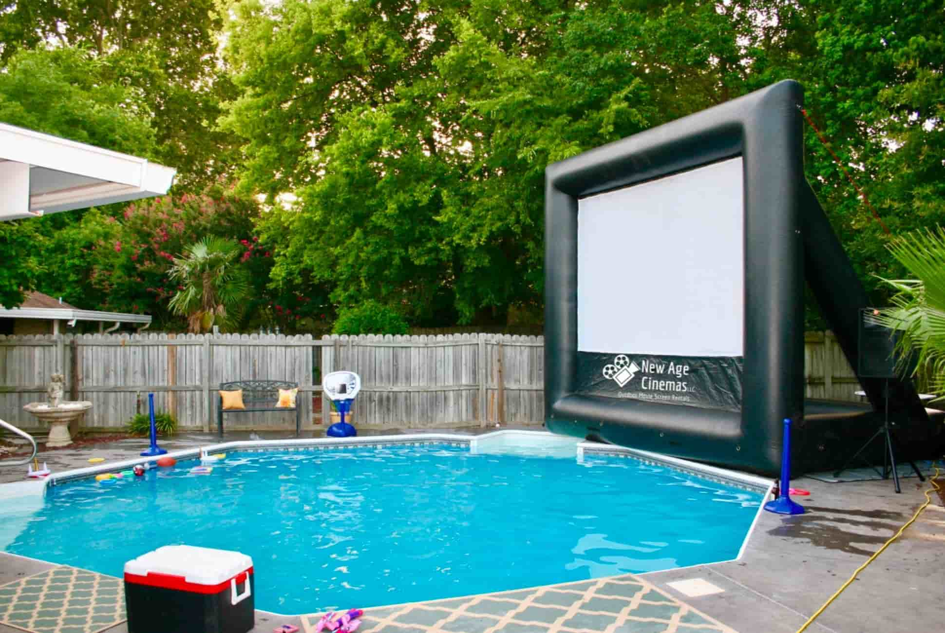 Movie by the pool