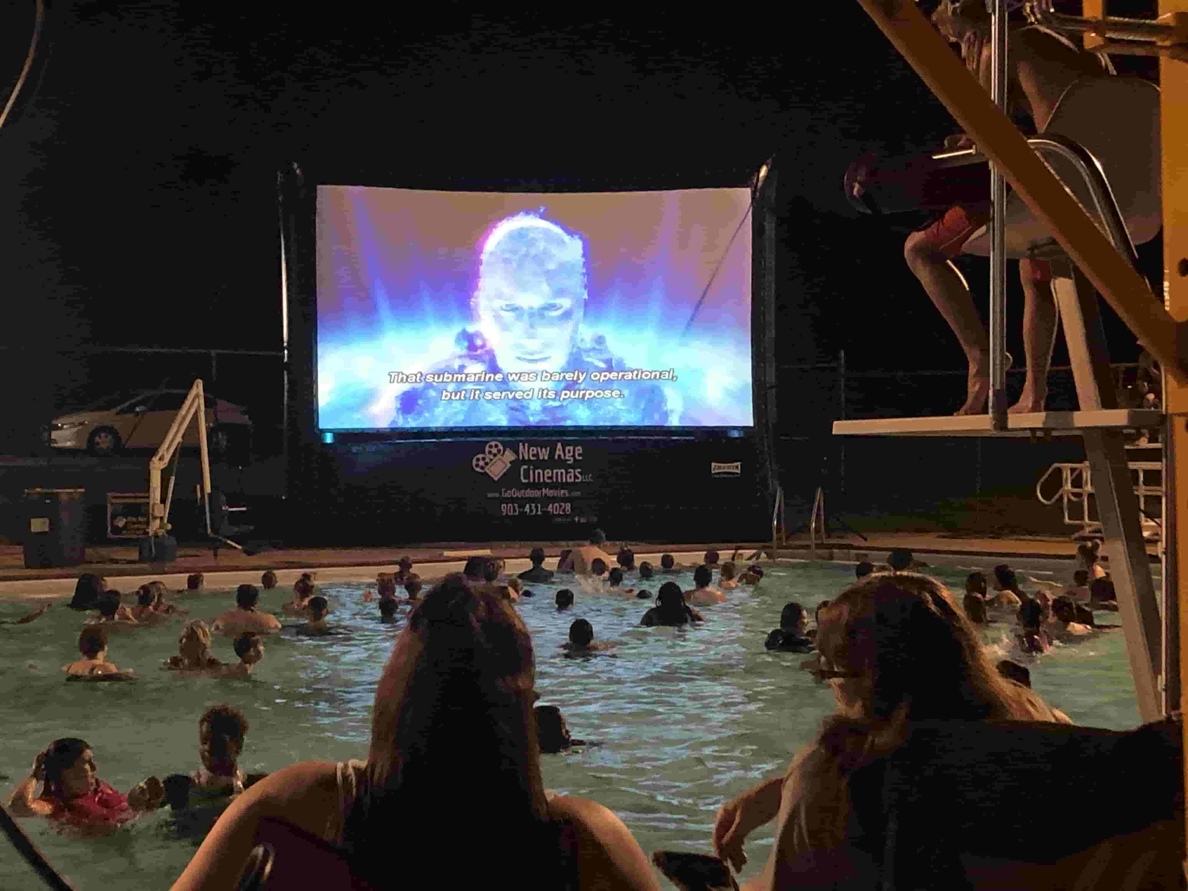 Outdoor Movie by the Pool