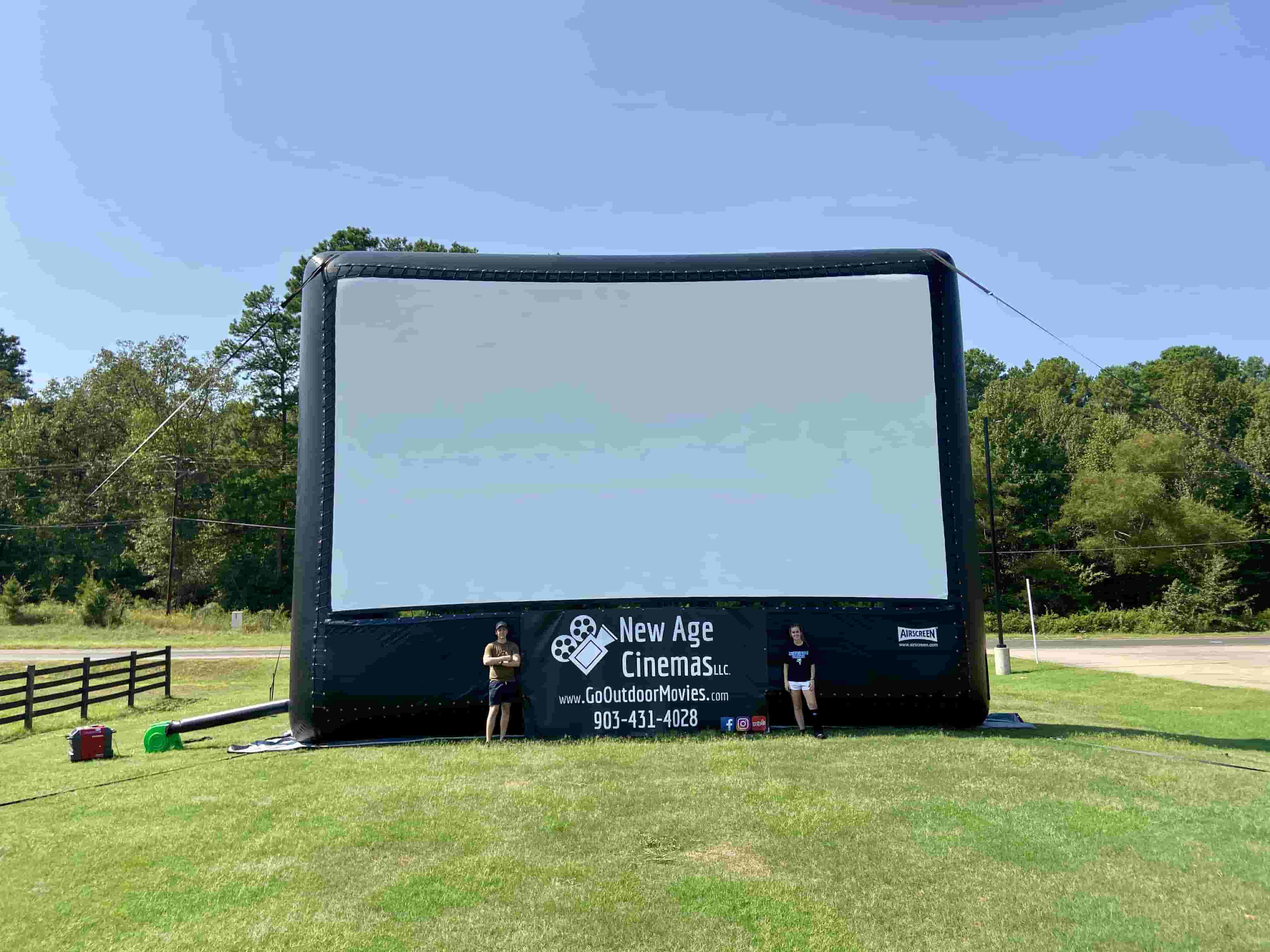 inflatable screen rental dfw