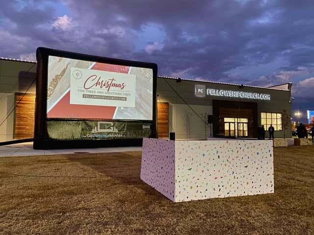 Inflatable movie screen rental Dallas