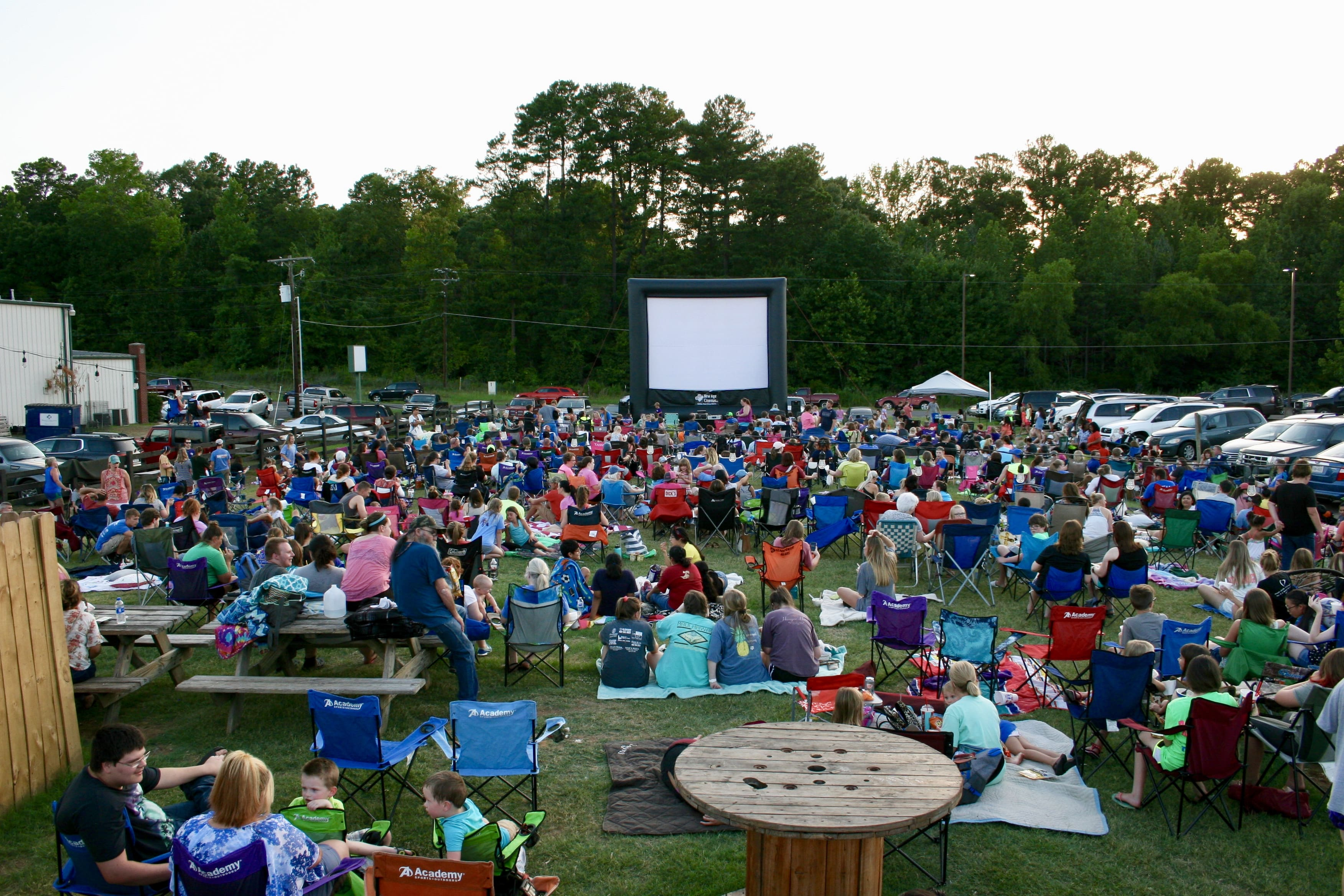 Outdoor Movie Night at Shivers Natural Snow in Longview Texas