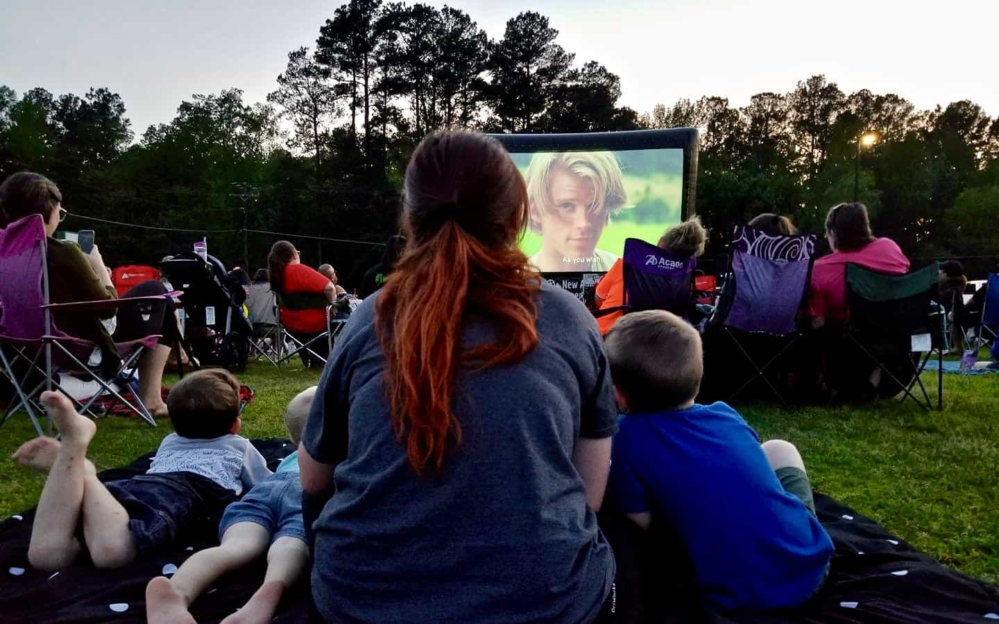 20 foot inflatable screen rental