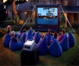 Backyard Outdoor Movie Screen Rentals