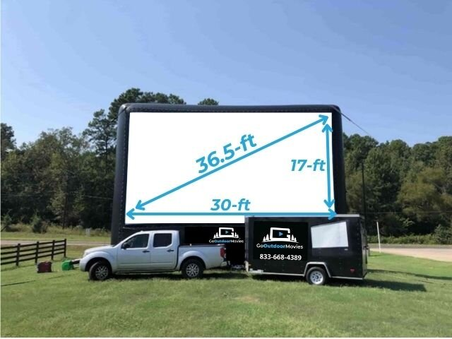 30ft AIRSCREEN Outdoor Movie Package 1