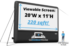 20ft AIRSCREEN Drive-in Movie