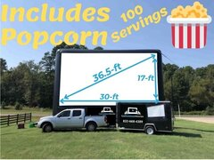 30ft AIRSCREEN Outdoor Movie Package 2