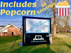 12ft AIRSCREEN Outdoor Movie Package 2