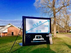 12ft AIRSCREEN Outdoor Movie Package 1