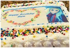 Birthday Cake with Customized Picture